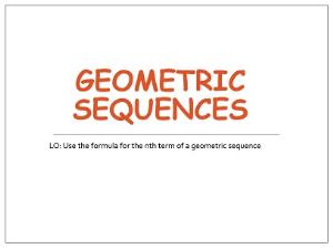 1.15 geometric sequences