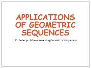 1.17 applicatons of geometric sequences