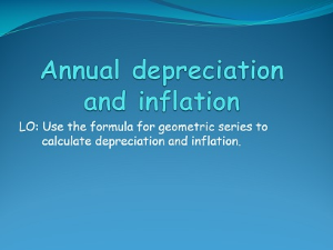 1.19 annual depreciation and inflation