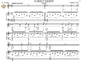 O Holy Night (Noël) Low Voice in F Major (Countertenor, Contralto). English Modern Version. A. Adam, J.S. Dwight. Digital score. A5 (landscape).Tablet Sheet Music Download. | eBooks | Sheet Music