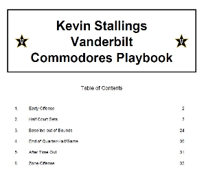 kevin stallings vanderbilt commodores playbook