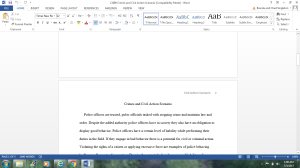 CJ499 Crimes and Civil Action Scenario   Documents and Forms   Research Papers