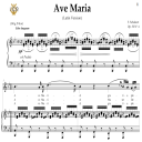 Ave Maria, D. 839 in B-Flat Major (Soprano/Tenor). Latin Version. F.Schubert. Digital score after Peters Friedlaender Edition (PD).  A5 (landscape).Tablet Sheet Music Download. | eBooks | Sheet Music