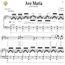 Ave Maria, D. 839 in A Major (Soprano/Tenor). Latin Version. F.Schubert. Digital score after Peters Friedlaender Edition (PD).  A5 (landscape).Tablet Sheet Music Download. | eBooks | Sheet Music