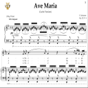 Ave Maria, D. 839 in G Major (Mezzo/Baritone). Latin Version. F.Schubert. Digital score after Peters Friedlaender Edition (PD).  A5 (landscape).Tablet Sheet Music Download. | eBooks | Sheet Music