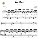 Ave Maria, D. 839 in F-Sharp Major (Contralto/Alto). Latin Version. F.Schubert. Digital score after Peters Friedlaender Edition (PD).  A5 (landscape).Tablet Sheet Music Download. | eBooks | Sheet Music