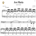 Ave Maria, D. 839 in F-Sharp Major (Baritone/Bass). Latin Version. F.Schubert. Digital score after Peters Friedlaender Edition (PD).  A5 (landscape).Tablet Sheet Music Download. | eBooks | Sheet Music
