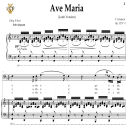 Ave Maria, D. 839 in F Major (Bass). Latin Version. F.Schubert. Digital score after Peters Friedlaender Edition (PD).  A5 (landscape).Tablet Sheet Music Download. | eBooks | Sheet Music