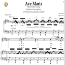 Ave Maria, D. 839 in B Major  (Soprano/Tenor). In German. F.Schubert. Digital score after Peters Friedlaender Edition (PD).  A5 (landscape).Tablet Sheet Music Download. | eBooks | Sheet Music