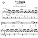 Ave Maria, D. 839 in F-Sharp Major (Contralto). In German. F.Schubert. Digital score after Peters Friedlaender Edition (PD).  A5 (landscape).Tablet Sheet Music Download. | eBooks | Sheet Music