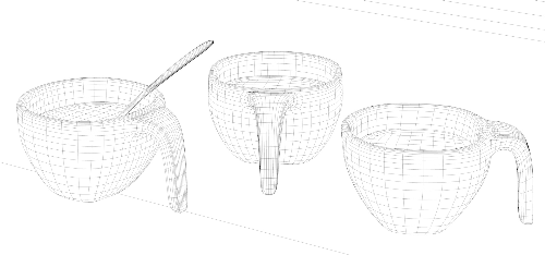 Third Additional product image for - design coffee cup model with spoon