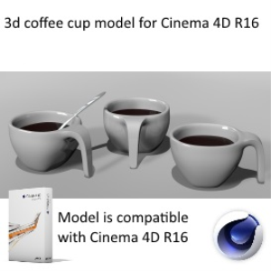 design coffee cup model with spoon