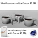 design coffee cup model with spoon   Software   Design