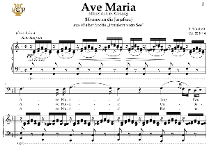 Ave Maria, D. 839 in F Major (Bass). In German. F.Schubert. Digital score after Peters Friedlaender Edition (PD).  A5 (landscape).Tablet Sheet Music Download. | eBooks | Sheet Music