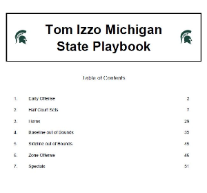 tom izzo michigan state playbook