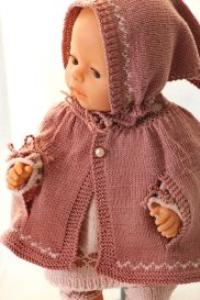 DollKnittingPatterns 0138D ALICIA - Tunica, cape, leggings, skaut og sko-(Norsk) | Crafting | Knitting | Other