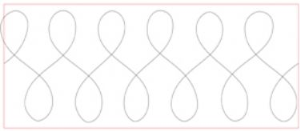 Figure Eight Quilting Template PDF | Crafting | Sewing | Quilting
