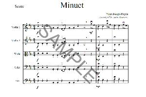 minuet by haydn, franz joseph for string orchestra (arranger john ramirez)