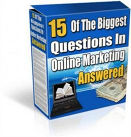 15 Of The Biggest Questions In Online Marketing Answered | eBooks | Internet