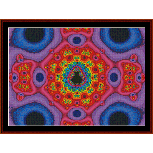 Fractal 530 cross stitch pattern by Cross Stitch Collectibles | Crafting | Cross-Stitch | Wall Hangings