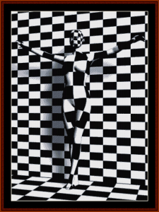 Checkered Woman cross stitch pattern by Cross Stitch Collectibles | Crafting | Cross-Stitch | Other