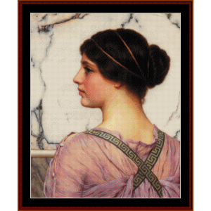 A Grecian Lovely, 1909 - Godward cross stitch pattern by Cross Stitch Collectibles | Crafting | Cross-Stitch | Wall Hangings