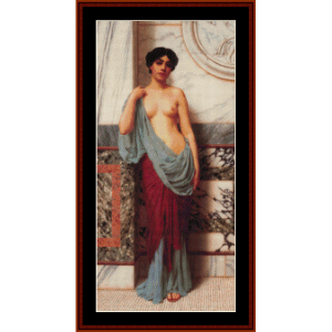 At the Thermae, 1909 - Godward cross stitch pattern by Cross Stitch Collectibles | Crafting | Cross-Stitch | Wall Hangings