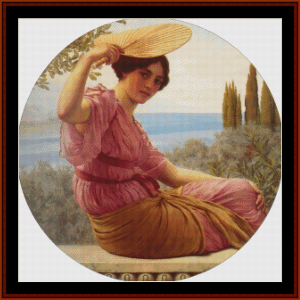 Golden Hours, 1913 - Godward cross stitch pattern by Cross Stitch Collectibles | Crafting | Cross-Stitch | Wall Hangings