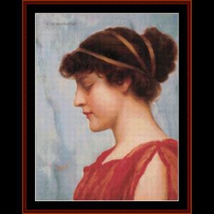 Ophelia, 1889 - Godward cross stitch pattern by Cross Stitch Collectibles | Crafting | Cross-Stitch | Wall Hangings