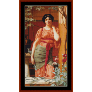 Nerissa, 1906 - Godward cross stitch pattern by Cross Stitch Collectibles | Crafting | Cross-Stitch | Wall Hangings