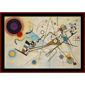 Composition VIII, 1923 - Kandinsky cross stitch pattern by Cross Stitch Collectibles | Crafting | Cross-Stitch | Wall Hangings