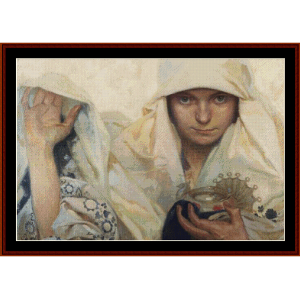 Fate - Mucha cross stitch pattern by Cross Stitch Collectibles | Crafting | Cross-Stitch | Wall Hangings