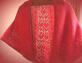 Cascading Hearts Faroese Shawl knitting pattern - PDF | Other Files | Arts and Crafts