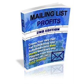 MAILING LIST PROFITS ! Master Resale Rights Included. | eBooks | Business and Money