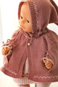 DollKnittingPatterns 0138D ALICIA - Kleid / Tunika, Leggings, Haarband, Kopftuch, Schuhe und Cape-(Deutsch) | Crafting | Knitting | Other