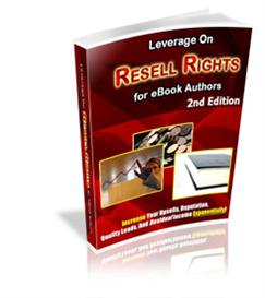 NEW* Leverage On Resell Rights or E-Book Authors - 2nd Edition (MRR) | eBooks | Business and Money