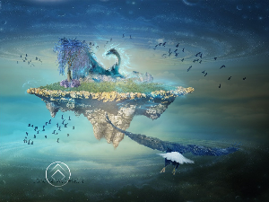 magic floating island