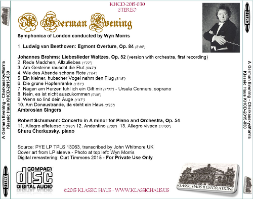 First Additional product image for - A German Evening - Shura Cherkassky/Wyn Morris