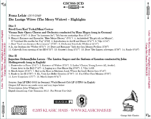 First Additional product image for - Franz Lehár: Die Lustige Witwe (The Merry Widow) – Highlights in German & English