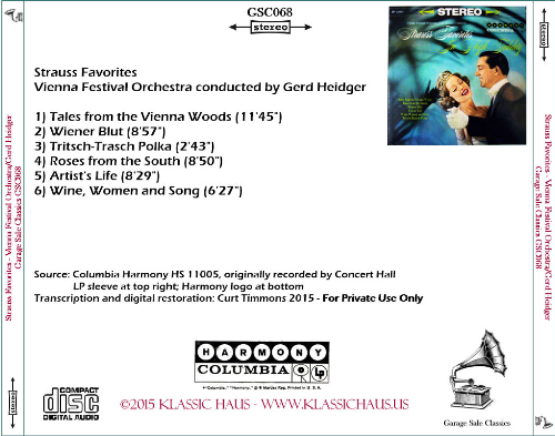 First Additional product image for - Strauss Favorites - Vienna Festival Orchestra conducted by Gerd Heidger