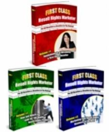 First Class Resell Rights Marketer Volume #1 , #2, #3,- With Master Re | eBooks | Business and Money