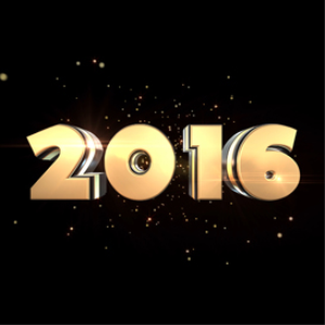 happy new year 2016: gold: