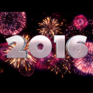happy new year 2016: fireworks: