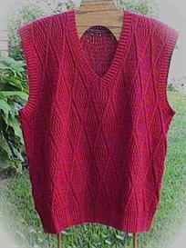 Ribbed Diamonds Man's Vest knitting pattern - PDF | Other Files | Arts and Crafts