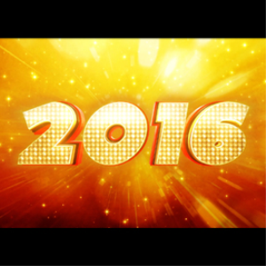happy new year 2016: led:
