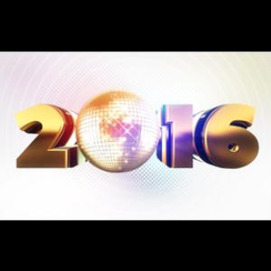 happy new year 2016: mirror ball: