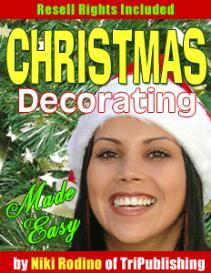 christmas decorating made easy with master resale rights