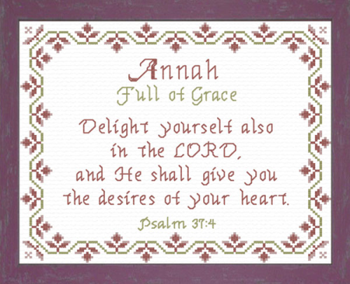 First Additional product image for - Name Blessings -  Annah