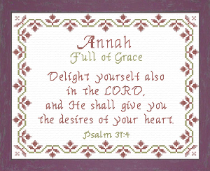 Name Blessings -  Annah | Crafting | Cross-Stitch | Religious