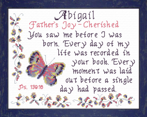 First Additional product image for - Name Blessings -  Abigail 5